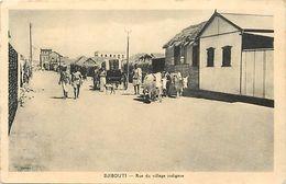 Pays Div -ref  K167- Djibouti - Rue Du Village   - Carte Bon Etat   - - Djibouti