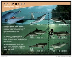 (175) Papua NG / Papouasie  2001 / Dolphins Sheetlet / Feuillet Dauphins / KB Delfine  ** / Mnh  Michel 1031-36 - Papua-Neuguinea