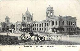 Pays Div -ref  K165- Pakistan - Sind Art College - Karachi  - Carte Bon Etat   - - Pakistan