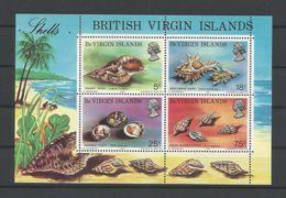 Br. Virgin Islands 1974 Shells S/S Y.T. BF 4 ** - Coneshells
