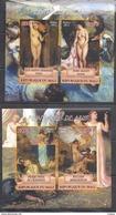 G546 PRIVATE ISSUE IMPERF 2011 REPUBLIQUE DU MALI ART PAINT PEINTURES DE NUS 2BL MNH - Nudes