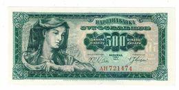 YUGOSLAVIA UNC 500 Dinara 01/05/1963 Pick 74 - Yugoslavia