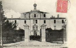 CPA - SAINT-ANDRE-de-CUBZAC (33) - Aspect De L'entrée Principale Du Collège En 1906 - Other Municipalities