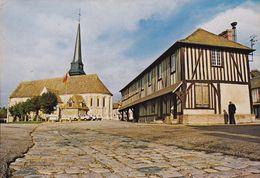CPSM - 27 - HARCOURT - L'église Et La Mairie - 800 - Harcourt