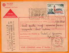 CONDAT SUR GANAVEIX    PREHISTOIRE  1962  Carte  N° GG 39 - Mechanical Postmarks (Advertisement)