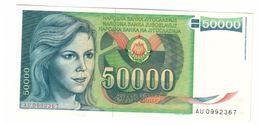 YUGOSLAVIA UNC 50000 Dinara 01/05/1988 Pick 96 - Jugoslavia