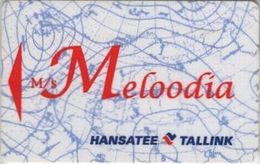 ESTONIA KEY CABIN   Tallink - M/S Meloodia ( Shipping Company ) - Cartes D'hotel