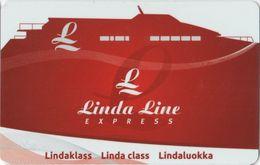 ESTONIA KEY CABIN   LINDA LINE EXPRESS  ( Shipping Company ) - Hotel Keycards