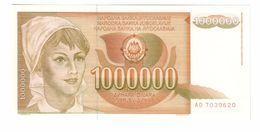 YUGOSLAVIA UNC 1000000 Dinara 01/11/1989 Pick 99 - Jugoslawien