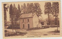 """1 Cpsm Sainte Feyre """" La Gare """" - Autres Communes"""
