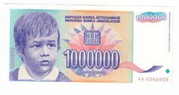 YUGOSLAVIA UNC 1000000 Dinara 1993 Pick 120 - Jugoslawien