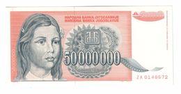 YUGOSLAVIA UNC 50000000 Dinara 1993 Pick 123 ZA Replacement - Yugoslavia