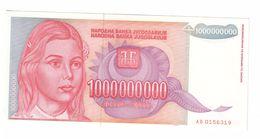 YUGOSLAVIA UNC 1000000000 Dinara 1993 Pick 126 - Jugoslawien