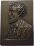 Médaille. Hommage Au Maître Louis Titz. - Prof. D'Art Appliqué à La Bijouterie. René Pirart.  68x50 Mm - 109 Gr - Professionnels / De Société