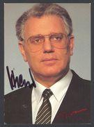 DR RUDOLF STREICHER (Politician) - Original Autograph - Hand Signed Photo RARE! - People