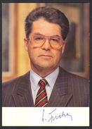 DR.HEINZ FISCHER (Politician) - Original Autograph - Hand Signed Photo Autogramm - People