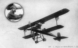 Aviateur L.Bréguet Sur Biplan Bréguet   -  CPA - Flieger