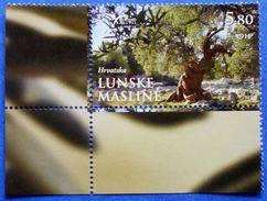 CROATIA PUMed MEDITERRANEAN TREES (PAG OLIVE TREES IN LUN) LUNSKE MASLINE 2017 MNH STAMP - Croatia