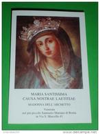 Madonna Miracolosa Dell'ARCHETTO Più Piccolo Santuario Mariano ROMA Domenico Muratori-Vir.Vespignani-Simonetti - Santino - Santini