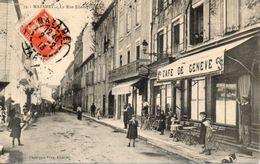 81 Mazamet - La Rue Edouard Barey - Café - Animation - Mazamet