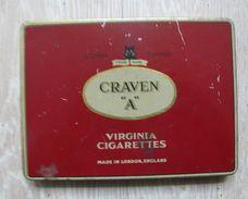 AC - CRAVEN A VIRGINIA CIGARETTES TOBACCO EMPTY TIN BOX FROM TURKEY - Contenitori Di Tabacco (vuoti)