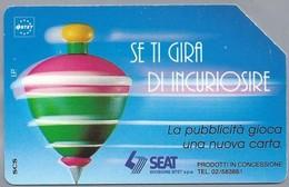 IT.- TELECOM ITALIA. CARTA TELEFONICA. LIRE 5.000. Se Ti Gira Di Incuriosire. SEAT.. 2 Scans - Italië