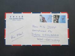 China / Taiwan 1968?! Hotelumschlag. The Grand Hotel Taipei, Taiwan. Air Mail / Luftpost Nach Kronenberg - 1945-... República De China