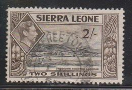SIERRA LEONE Scott # 182 Used - KGVI & Freetown From The Harbour - Sierra Leone (...-1960)