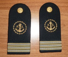 Spalline Capo Di 1^ Classe SSAL - Marina Militare - Usate - Italian Navy Shoulder Boards - Marine