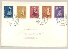 Nederland - 1958 - Zomerserie Klederdrachten Op Cover Lokaal Amsterdam - Periode 1949-1980 (Juliana)