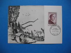 Carte-Maximum N°  994 Paul Valéry  N° 075 001  - 1954 - 1950-59