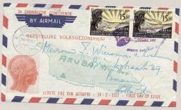 Curacao - 1957 - 2x Congres Geestelijke Volksgezondheid Op FDC Van Willemstad Naar Baarn - Curaçao, Nederlandse Antillen, Aruba