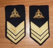 SECONDO CAPO MOTORISTA - MARINA MILITARE ITALIANA - GRADI DA MANICA RICAMATI - Usate - Italian Navy Seaman Ranks - Marine