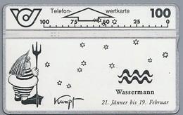 AT.- ÖSTERREICH. AUSTRIA. Telefon-wertkarte. Telefonwertkarte. Wassermann 21 Jänner Bis 19 Februar. Kumpf. 232A. 2 Scans - Oostenrijk