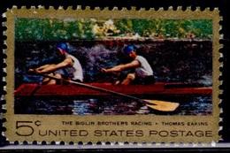 "United States, 1967, Painter Thomas Eakins ""Sculling"", 5c, Sc#1335, MNH - Etats-Unis"