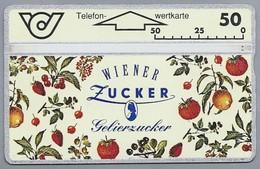 AT.- ÖSTERREICH. AUSTRIA. Telefon-wertkarte. Telefonwertkarte. WIENER ZUCKER Gelierzucker. 2 Scans - Oostenrijk