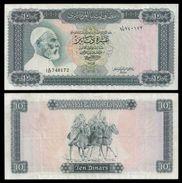 Libya 10 DINARS Sign.2 ND 1972 P 37b VF (Libye) - Libya