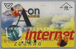AT.- ÖSTERREICH. Telecom AUSTRIA. Aon Line. Einfach Schnell Internet Zugang.. 2 Scans - Oostenrijk