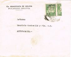 26638. Frontal UYUNI (Bolivia) 1917. Bisect Stamp. Remitida De PULACAYO - Bolivia