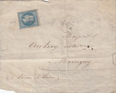 FRANCE - LETTRE CLASSIQUE GC 4014 LA TREMBLADE POUR MARCIGNY SAONE ET LOIRE 16 MARS 1870/ 1 - Marcofilia (sobres)