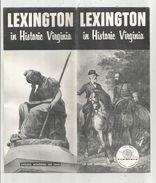 Dépliant Touristique, 16 Pages  , Etats Unis , Virginie , LEXINGTON In Historic Virginia , 2 Scans , Frais Fr : .1.75 E - Dépliants Touristiques