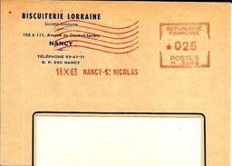 Lettre  EMA Havas M  Biscuiterie Lorraine  Theme Nancy  B/1129 - EMA (Empreintes Machines à Affranchir)