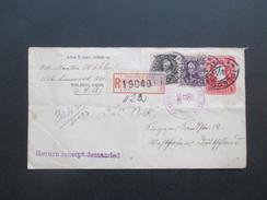 USA 1906 Ganzsache Mit Zusatzfrankatur 140 / 144 Registered Mail New York No 19049. Reverend Martin Köhler Toledo Ohio - Lettres & Documents