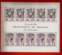 Monaco Bloc BF N° 46 ** Jeux D'Enfants Jeu De Billes Corde à Sauter - Blocks & Sheetlets