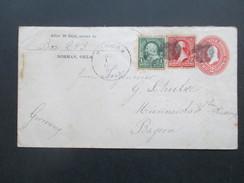 USA 1902 Ganzsache Mit Zusatzfrankatur 126  Norman Okla. Verschiedene Stempel. Killer. Nach Münnerstadt Bayern - Briefe U. Dokumente