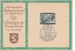 ÖSTERREICH 1947 - Ank773 - 3 S Grün Auf Pk Mit Sonderstempel - 1945-.... 2. Republik