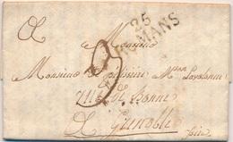 G504 - Courrier 1818 - De ROMANS À GRENOBLE - 1801-1848: Précurseurs XIX