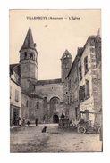 Villeneuve. Aveyron. L'église. Avec Pétrolette, Charrette. (2183) - Frankreich