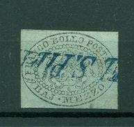 Etats Pontificaux 1852/64 - Y & T. N. 1 - Armoiries 1/2 Baj. - Etats Pontificaux