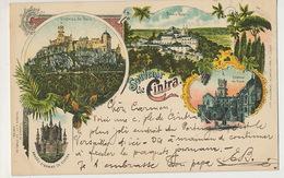 Souvenir De Cintra Litho Universal Color Lisboa  P. Used 1902 To Villejuif - Portugal